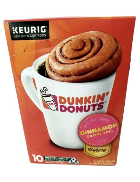 Just in time for st. Dunkin' Donuts K Cups Cinnamon coffee Roll.60ct. Exp.01/21 ...