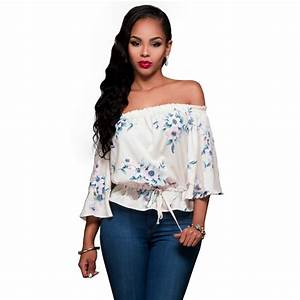 2017 Floral Print Sexy Latest Tops Women Top Fashion Brand ...