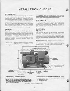 1983 Fleetwood Pace Arrow Owners Manuals  Onan 4 0 Kw Bfa Genset Operators Manual