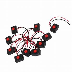 Promotion  10 X Ac 250v 3a 2 Wire Plastic Momentary Push Button Switch For Car Auto Horn