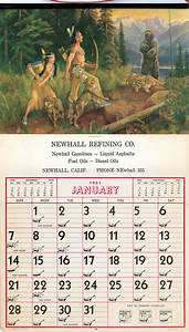Small Calendars Scvhistory Com Lw2869 Newhall Newhall Refining Co