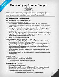 housekeeping resume sample resume companion With resume templates for housekeeping jobs