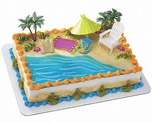 Beach Chair & Umbrella Cake Cakes