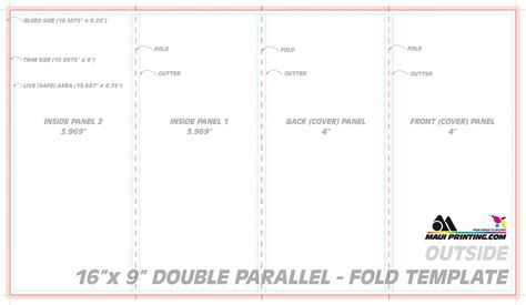 Parallel Fold Brochure Template Templates Parallel Fold Brochure Template Templates
