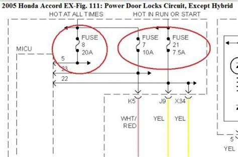Honda Accord Door Lock Wiring Diagram by 2005 Honda Accord Power Door Locks My Power Door Locks Do