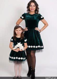 Одинаковые платья для мамы и дочки повседневные и вечерние модели