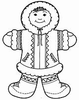 Eskimo Coloring Pages Igloo Inuit Clipart Zipper Arctic Google Inuits Colouring Craft Printable Crafts Preschool αναζήτηση Winter Polar Getcolorings Bear sketch template