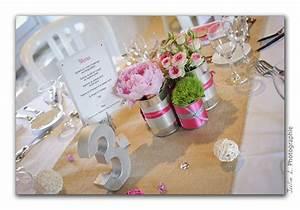 Deco Table Rose Et Gris : d co de mariage champ tre chic gris et rose mademoiselle ~ Melissatoandfro.com Idées de Décoration