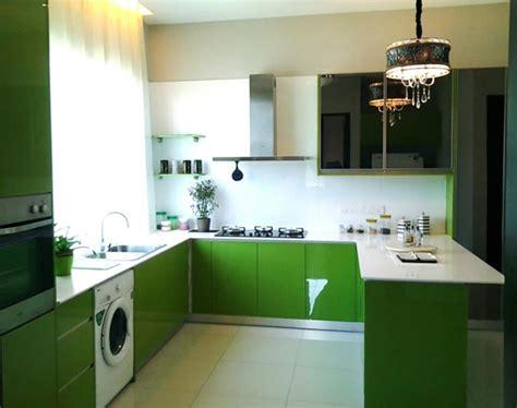 cuisine blanche et verte cuisine vert