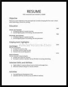 college student part time job resume template resume templates for first job