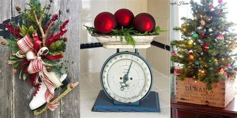 ways  decorate  home  vintage christmas finds