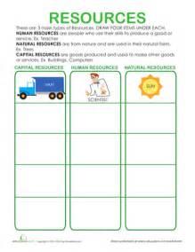 Natural Resources Printable Worksheet