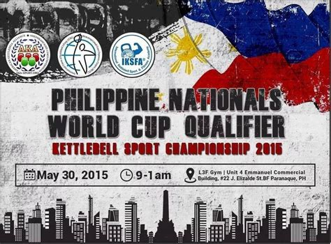 national philippine kettlebell championship poster philippines competition finally ever sport