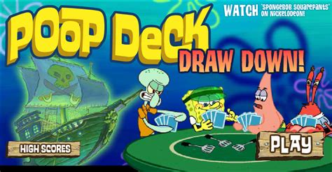 Spongebob Deck Drawdown by Deck Draw Encyclopedia Spongebobia The