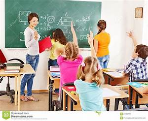 School child with teacher. stock image. Image of knowledge ...