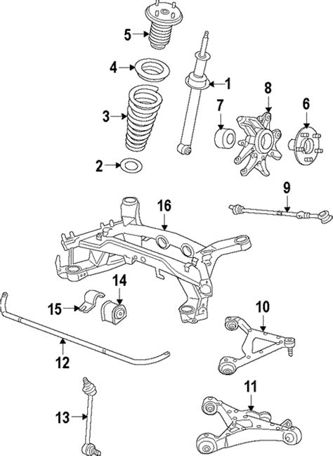 rear suspension for 2009 jaguar xf jaguar parts unlimited