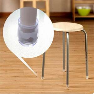 Floor protectors for chairs plastic floor matttroy for Chair leg pads for laminate floors