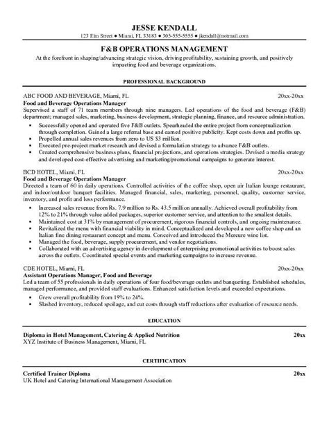 Resume F B Director by F B Resume Exles Office Manager Resume Resume