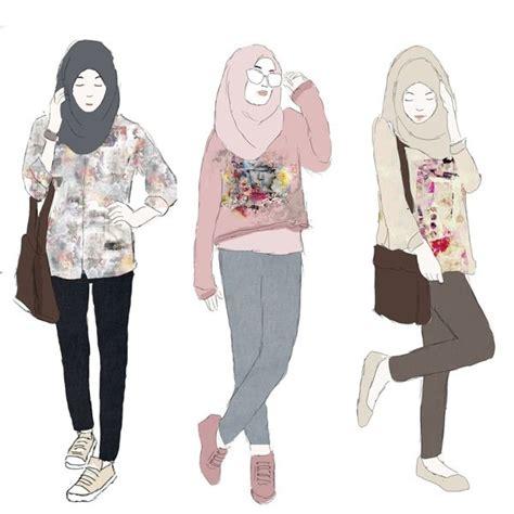 images  illustration hijab  pinterest