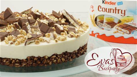 kinder country torte  bake schokoladen knusper boden
