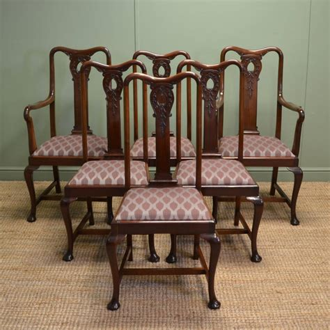dining chairs antique stunning set of six solid mahogany antique edwardian 3325