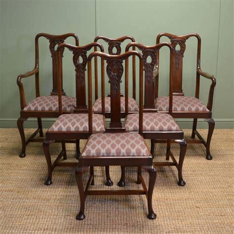 stunning set   solid mahogany antique edwardian