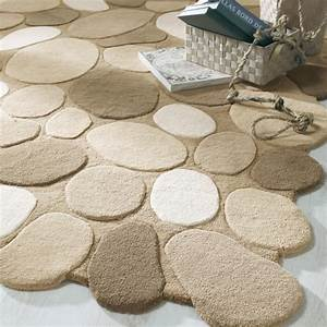 tapis galet beige maisons du monde With tapis galet salle de bain