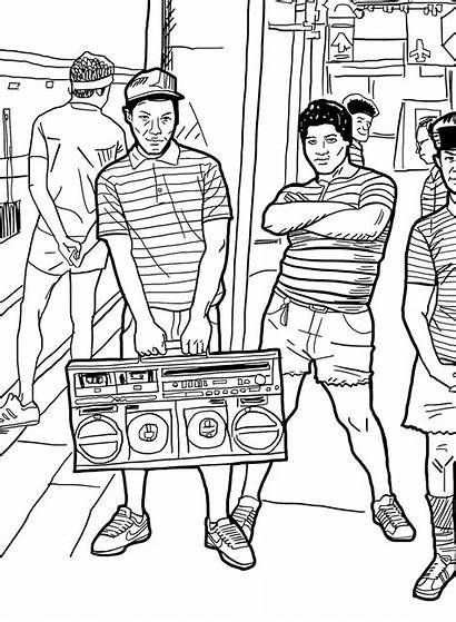 Coloring Days Adult Hop Hip Books Shabazz