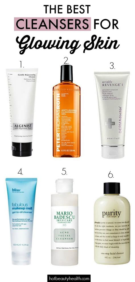 best cleansing for skin the best cleansers for glowing skin hair