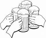 Beer Coloring Oktoberfest Cheers Holiday Drawing Cerveza Printable Dibujo Coloringonly Supercoloring Getdrawings Brindis Colorear Para Cuatro Jarros Categories Con Jarras sketch template