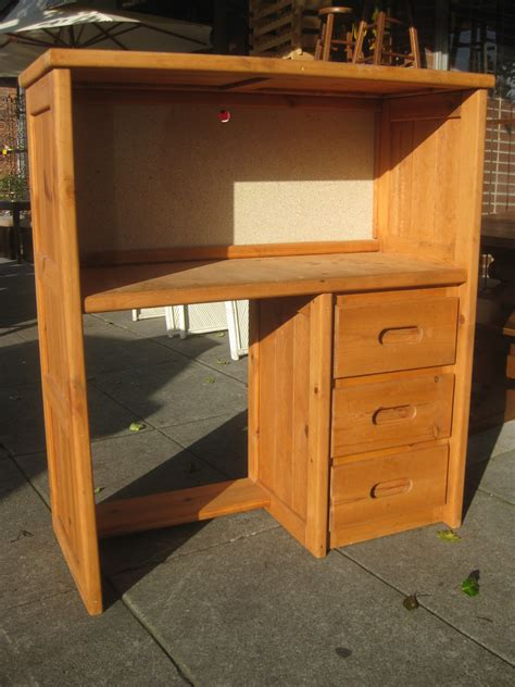 Pine Desk Hutch Uhuru Furniture Collectibles Sold Pine Desk W