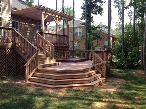 Backyard Deck Plans by Layton Deck And Pergola I The Two Distinct