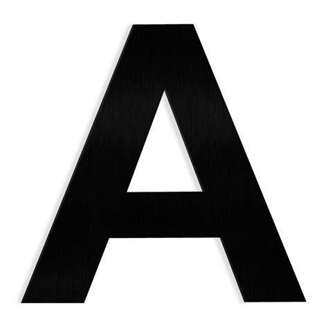 Barton 6 in. Black Stainless Steel Floating House Letter A ...
