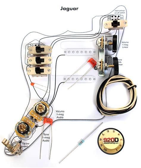 Rickenbacker 620 Wiring Diagram by 920d Custom Jgk Vintage Wiring Kit For Vintage Jaguar Reverb