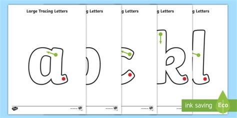 large   tracing letters teacher