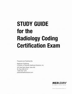 Study Guide For The Radiology Coding Certification Exam