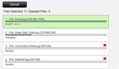 Multiple File Upload With Progress Bar Using Jquery