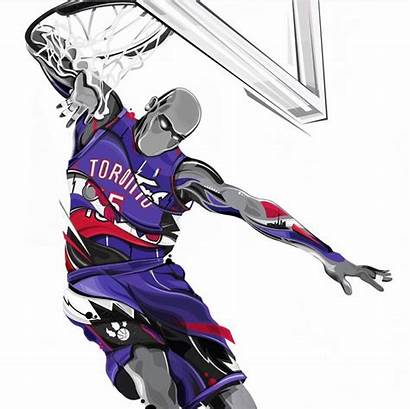 Basketball Carter Vince Nba Drawings Dunk Players