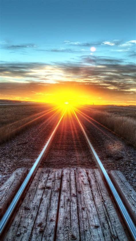 Railroad Sunset   Beautiful sunset, Sunset, Photo