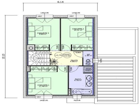 plan maison a etage 3 chambres plan maison 6 chambres plan rdc maison maison 1 angle 3