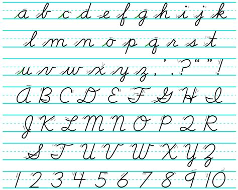 Cursive Alphabet Your Guide To Cursive Writing  Science Trends