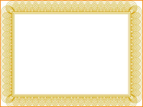 Gold Certificate Background Gold Formal Certificate