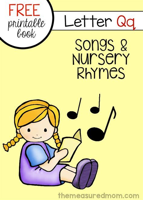 preschool songs about books free book of rhymes and songs for letter q the measured 787