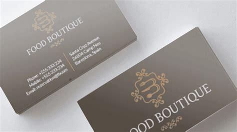 restaurant business card food boutique logos graphics