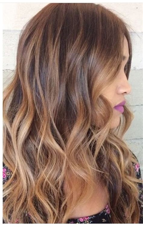 Brown With Hair by Caramel Bayalage On Light Brown Base Hair
