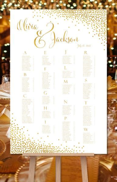 Wedding Table List Template by Wedding Seating Chart Poster Reception Table Plan