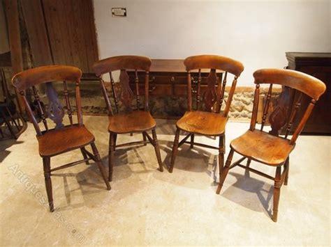 cloverleaf home interiors chairs 4 fiddle back elm c1880