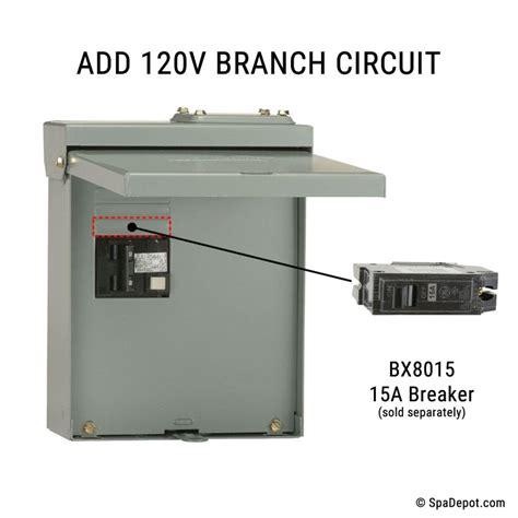 Spa Gfci 50 Receptacle Wiring tub gfci load center disconnect 240v 50a