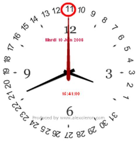 horloge sur pc bureau gratuit horloge sur pc bureau gratuit 28 images horloge pc
