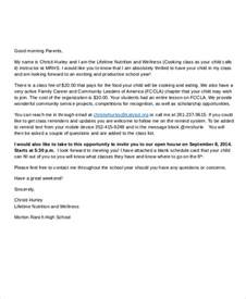 Parent Welcome Letter Template